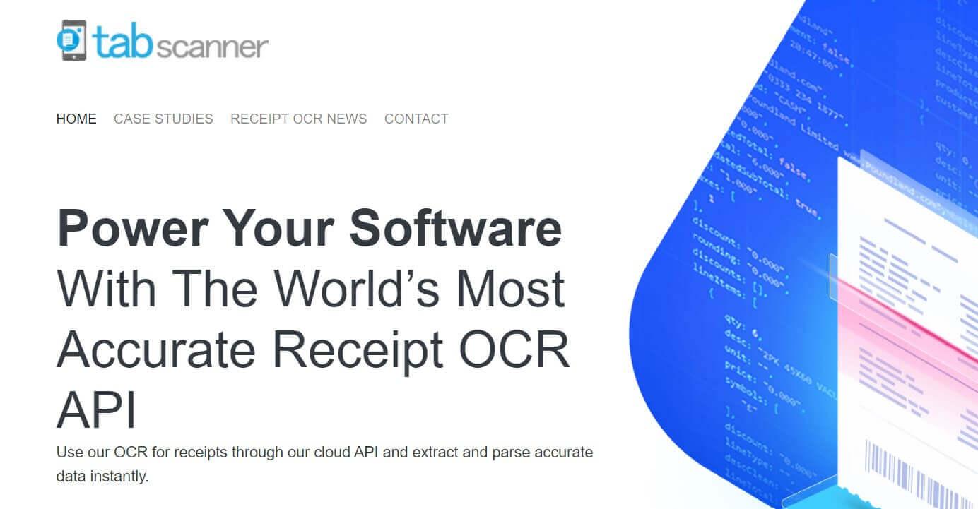 Try Tabscanner's FREE Receipt OCR API